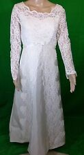 Vintage Int. Ladies Garment Workers Union Lace Wedding Dress Size 14