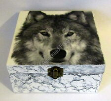 Jewellery Box/Trinket box. 'Lone Wolf,' by Speckled Frogs