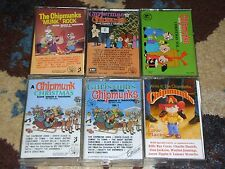 CHIPMUNKS 6 Cassette Lot VINTAGE EMI Munk Rock CHRISTMAS A-Files IN LOW PLACES