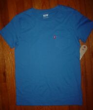 Levis Men's Short Sleeve Crew Neck Tee T Shirt Blue Size L 12-13 years New