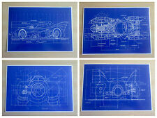 Batman Batmobile Blueprints Movie Prop Posters - FREE UK POSTAGE