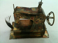Acid Etched Tin Sewing Machine Music Box Plays I'm Your Sunshine