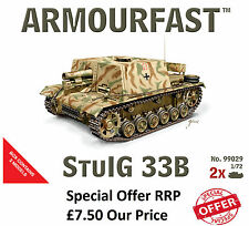 NEW Armourfast 1/72 German StuIG 33B Tank  Model Kit - Contains 2 Tanks (13261)