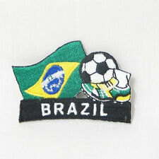 BRASIL SOCCER FOOTBALL KICK COUNTRY FLAG EMBROIDERED IRON-ON PATCH CREST BADGE