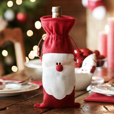 HOT Christmas Red Santa Wine Bottle Bag Cover Dinner Table Xmas Party Decoration