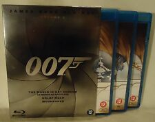 Blu-Ray Bluray DVD James Bond Vol 3 007 - Moonraker - Goldfinger - World is not
