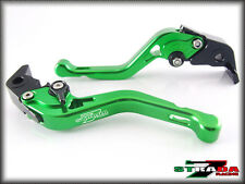 Strada 7 Short Adjustable CNC Levers Kawasaki Z1000SX NINJA 1000 Tourer Green