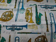 Cuarto Gordo Tela instrumentos musicales Cotton Craft Quilting