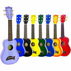 Makala Soprano Ukulele Fitted With Aquila Strings Various Colours & Black Case