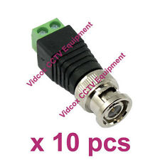 NEW 10x UTP CAT5 CAT6 Cable to Male Coaxial BNC Connector Balun for CCTV Camera