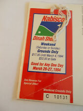 1994 Nabisco Dina Shore Golf Tournament Ticket Badge SK3