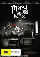 Mary And Max DVD AUSTRALIAN TOP 250 MOVIES ANIMATION CLAY PUPPETS BRAND NEW R4
