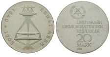 Rare 1980 DDR(East Germany)Proof Silver 20 Marks -Abbe -mintage 5500