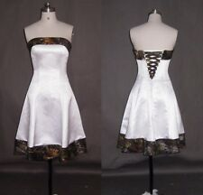 Short Beach Camo Wedding Dresses  A-Line Camouflage Appliques Bridal Gowns