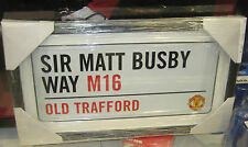MANCHESTER UNITED OLD TRAFFORD STADIUM STREET SIGN FRAMED - BRAND NEW!