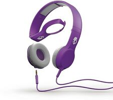 SkullCandy Cassette Athletic Purple Earphones Mic1+ Remote For Hoodies & Beanies