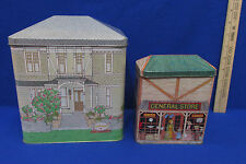 2 Vintage Tin Containers Sutter Home Winery Napa & Tinsmiths Craft House England