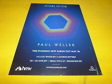 PAUL WELLER - Saturns pattern - hmv - Publicité de magazine / Advert !!