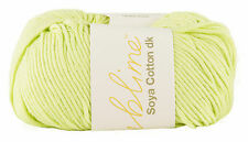 "SUBLIME (SIRDAR) ""SOYA COTTON dk"" YARN. Pale Lime Green. Yarn no.K008. 50g Ball."