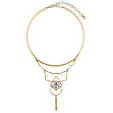 N1010 Forever 21 Vintage Downton Abbey Marble Gem Bridal Dangling Necklace  UK