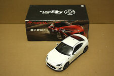 1/18 china 2013 TOYOTA GT86 model white color+ gift