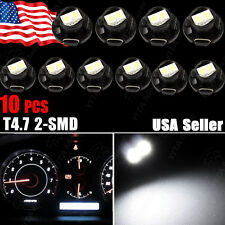 10pc White T5 Neo Wedge 2 SMD Led Bulbs Instrument Cluster A/C Climate LED Light
