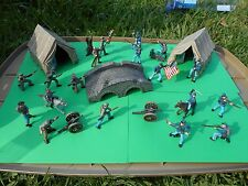 CIVIL WAR SET; soldiers/tent/bridge/diorama/toy/soldier/FREE SHIPPING