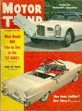 1956 Motor Trend Magazine: New Baby Cadillac/New Chevy/Continental's Competition