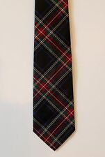 Polo Ralph Lauren Tie Mens Black Red Plaid Silk Neck-Tie Italy NWT $125
