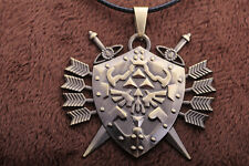Legend of Zelda Link Hylian Shield Links Logo Metal Necklace / Pendant +chain