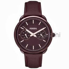 Fossil Original ES4121 Women's Tailor Wide Red Leather Watch 35mm Multifunction