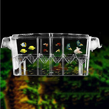Fish Breeding Aquarium Box Tank Isolation Incubator Hatchery Young Breeder Clear
