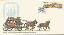 RSA   South Africa  1986  Mail Coach Post  Langlaagte  Johannesburg  14c.  Cover