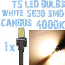 N° 1 Gloeilamp LED T5 Wit 4000K SMD 5630 Koplampen Angel Eyes DEPO FK 12v 1A5 1A