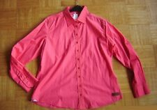 @ MILANO Italy @ tolle Bluse hummerrot neon Size XXL Gr.44 UK 16 US 14