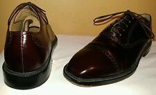 Rockport Burgundy Brown Leather Cap toe Oxford Lace Dress Shoe 8 M Kinetic Air