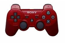 Official Sony PS3 PlayStation 3 Wireless Dualshock 3 Controller Red Genuine VG