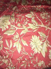RALPH LAUREN Villa Camelia Euro 28x28 Coral Paprika Floral Pillow Sham EUC