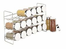 Kitchen Spice Rack Storage Organizer 18 Bottle Holder with 5oz Glass Jar Set New