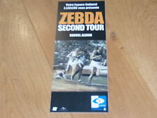 ZEBDA - SECOND TOUR !!!!!!!!!!!!!!!!!!!!!! PLV  14 X 35 CM !