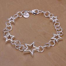 Damenarmband Sterne 20cm Damen Armband pl. mit Sterlingsilber DA178 T::A Neu