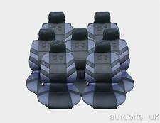 FULL SET 7X GREY SEAT COVERS CUSHION FOR 7 SEATER CAR MPV VAN