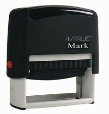 iMprueMark Personalized Custom 5 Line Business Address Self-Inking Rubber Stamp