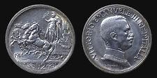 pci1307) Vittorio Emanuele III  (1901-1943) 2 lire Quadriga Briosa 1914