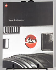 Leica THE PROGRAM publication information book  A4 138 pages catalogue in colour