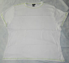 HANES SILVER FOR HER WOMENS COTTON TEE T-SHIRT WITH CONTRAST STITCH TRIM *NIP!*