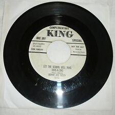 ROCKABILLY 45 RPM RECORD BONNIE & RUSTY - KING 5110 - PROMO