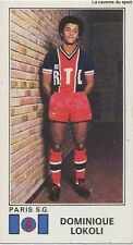 N°254 DOMINIQUE LOKOLI PARIS SAINT-GERMAIN.FC  PSG STICKER PANINI FOOTBALL 1977