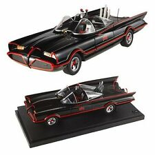 Hot Wheels 1:18 Batmobile Batman & Robin Figures Classic TV Series Diecast Car