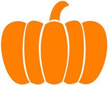 A pumpkin decal or vinyl cut sticker, great for Halloween.